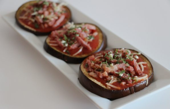 Mini pizzas d'aubergine