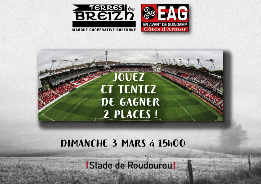Terres de Breizh vous fait gagner des places pour le match EAG - Nantes