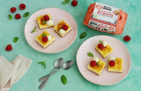 Cheesecake_Crème brulée à la framboise - Terres de Breizh