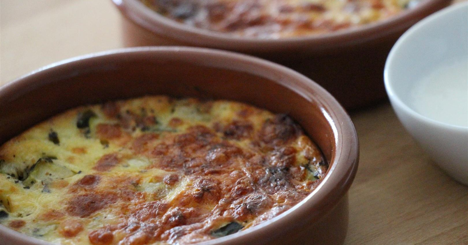 Clafoutis à la courgette, chorizo, parmesan et lait ribot TDB (Large)